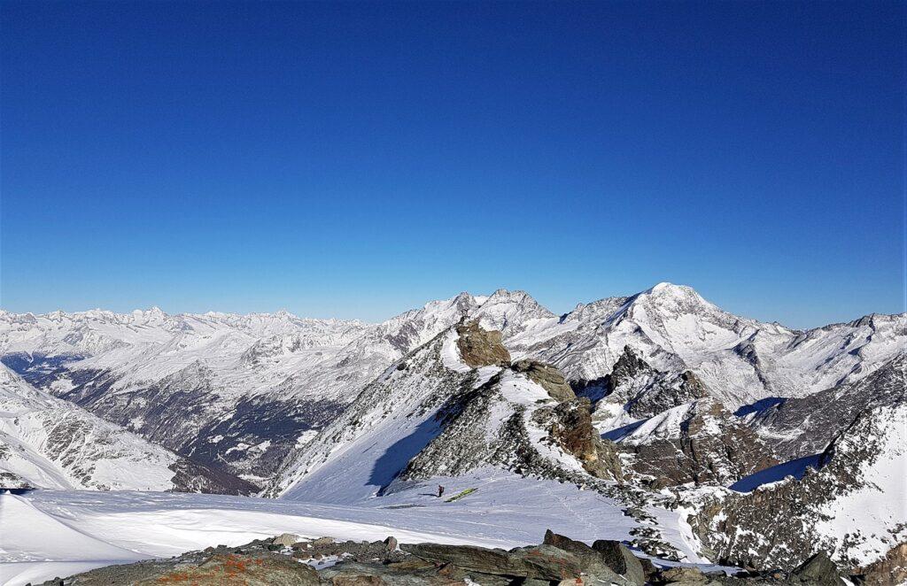 mountains, paragliding, snow